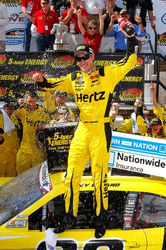 The No. 22 Hertz Ford Mustang And Driver Joey Logano Dominates The Monster Mile
