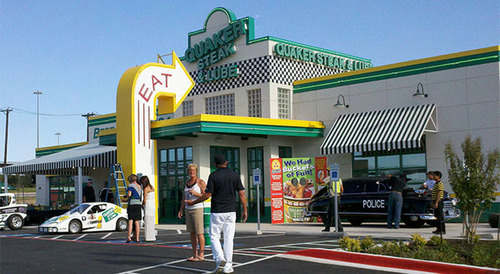 Quaker Steak & Lube(R) features compelling decor, including race cars suspended from the ceilings, motorcycles, Corvettes and gas station memorabilia. (Location: Waco, Tx.). (PRNewsFoto/i-10 Hospitality) (PRNewsFoto/I-10 HOSPITALITY)