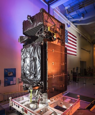 The SBIRS GEO Flight 3 satellite undergoes final preparations at Lockheed Martin. To prepare for its launch, the satellite went through rigorous testing procedures, including thermal vacuum testing at the extreme hot and cold temperatures it will encounter in space.
