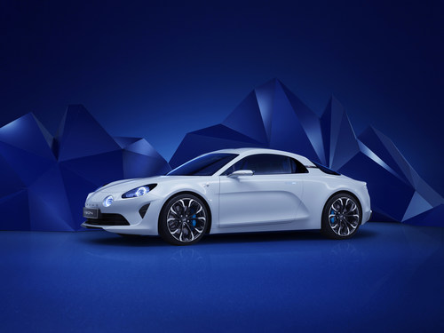 Groupe Renault Chairman and CEO Carlos Ghosn today announced plans for a new Alpine sports car and unveiled the Alpine Vision show car. (PRNewsFoto/Groupe Renault) (PRNewsFoto/Groupe Renault)