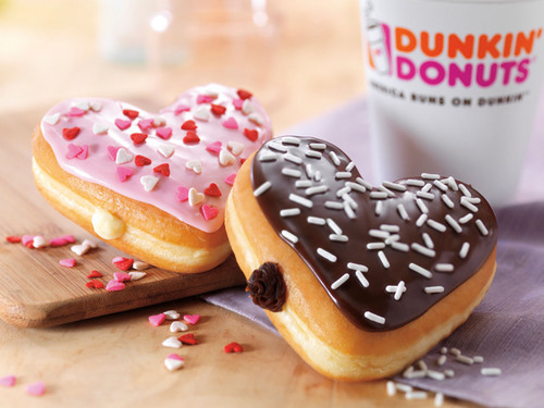 Sweet And Easy Ways To Celebrate Valentine's Day At Dunkin' Donuts. (PRNewsFoto/Dunkin' Donuts) ...