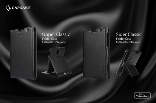 Capdase's exquisite Upper Classic and Sider Classic series has a modern and sleek look and is designed to precisely fit the BlackBerry Passport. (PRNewsFoto/Capdase)