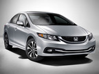 The 2013 Honda Civic Sedan. (PRNewsFoto/American Honda Motor Co., Inc.)