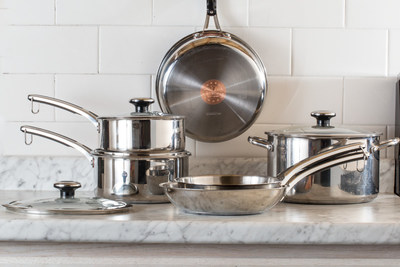 REVERE(R) Copper Confidence Core(TM) Stainless Steel Cookware 10 Piece Set
