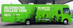 The Noisey and Garnier Fructis Headhunter College Tour will feature a full-size tour bus that will travel across the U.S., hosting live auditions at each stop to find a male and female host of HEADHUNTER, a 6-episode series launching this summer on Style Stage (www.noisey.com/stylestage).  (PRNewsFoto/Garnier Fructis)