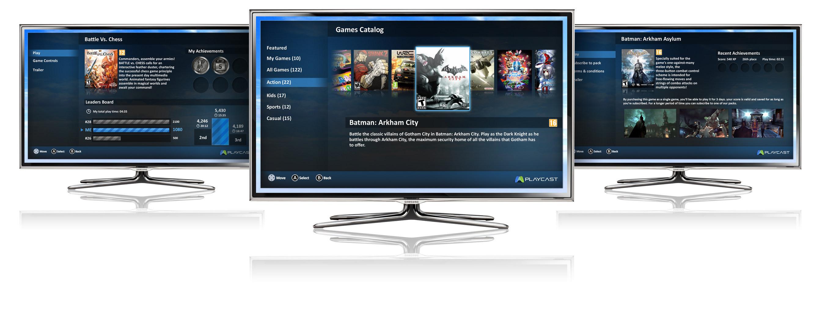 Playcast Cloud Gaming-Service wird Streaming auf Samsung Smart TVs anbieten