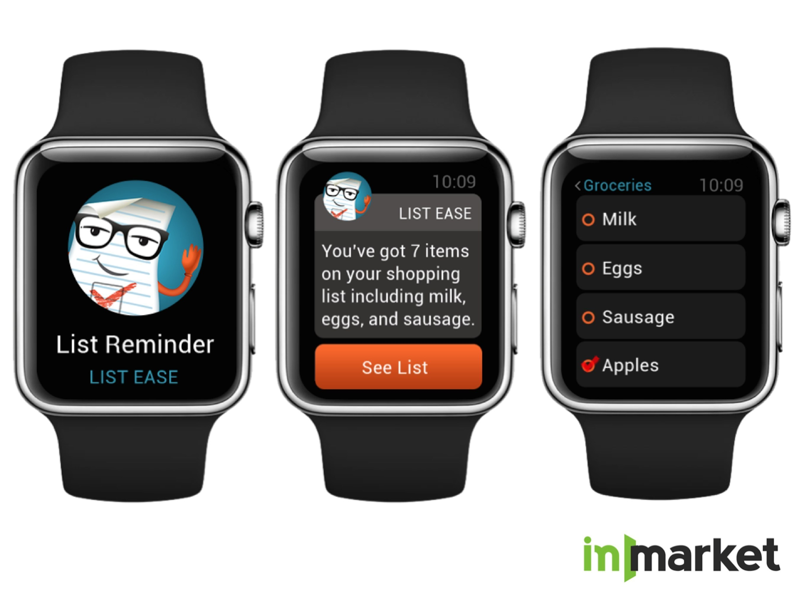 inMarket - Apple Watch User Experience in List Ease