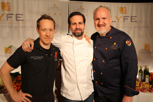 Executive Chef Jeremy Bringardner, Vegan Consulting Chef Tal Ronnen and Chef Art Smith.  (PRNewsFoto/LYFE Kitchen)