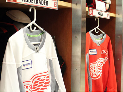 Amway sponsors practice jerseys of the Detroit Red Wings.  (PRNewsFoto/Amway)