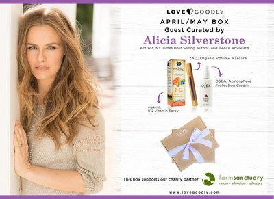 ALICIA SILVERSTONE GUEST CURATES THE LOVE GOODLY APRIL/MAY BOX TO CELEBRATE EARTH DAY