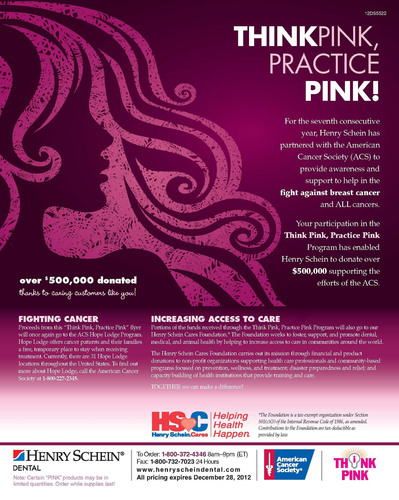 Henry Schein's Seventh Annual 'Think Pink, Practice Pink' Program Raises Awareness of the Importance of Early Detection.  (PRNewsFoto/Henry Schein, Inc.)