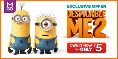 Despicable Me 2 For Just $5: M-GO Changes The Despicably Stressful Holiday Time To The Most Delightful With An Unbeatable Offer. (PRNewsFoto/M-GO) (PRNewsFoto/M-GO)