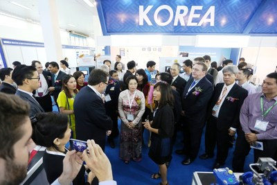 VIP tour at Vietwater and RE & EE Vietnam 2015, Hanoi