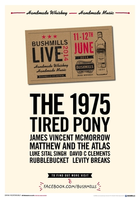 Full Line-up Announced for Bushmills Live™ 2014