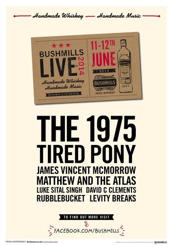 Bushmills Live 2014 full line up poster