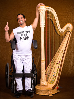 United Spinal Starts Auction of Grand Concert Harp Built by Master Harp Artisan With Spinal Cord Injury: A World Class Harp Built From a Wheelchair.  (PRNewsFoto/United Spinal Association, Richard Oles)