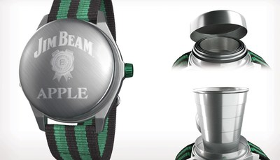 The Jim Beam(R) Apple Watch features a streamlined interface that opens and closes on demand and enables remarkable precision in both shot pouring and drinking.