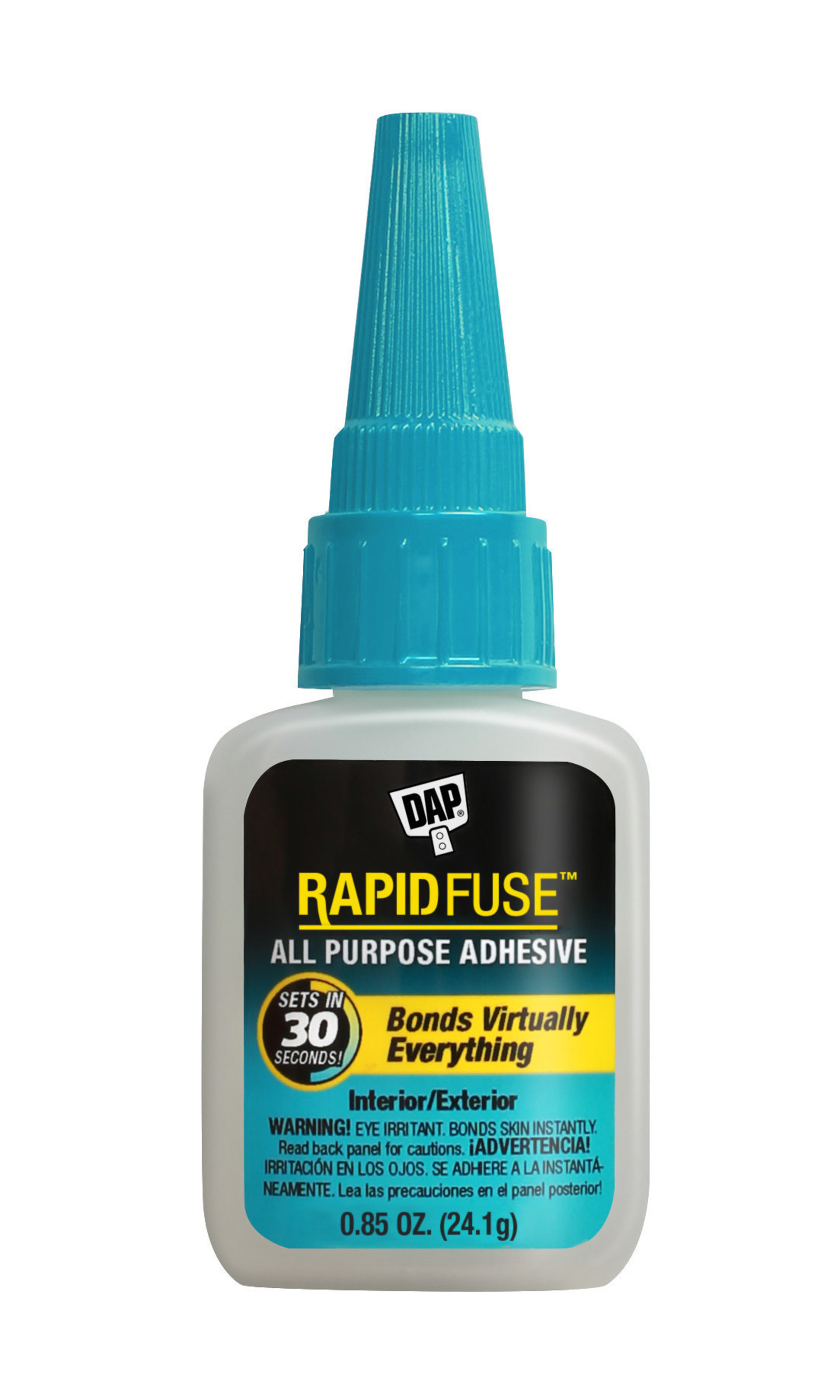 DAP RapidFuse All Purpose Adhesive bonds virtually everything to anything and offers the best end result on home repairs and DIY projects alike.