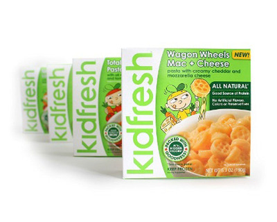Kidfresh offers six healthy kids meals including time-tested kids favorites Mac & Cheese and Pasta & Meatballs.  (PRNewsFoto/Kidfresh)