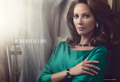 Activist-Model Christy Turlington Burns is the Face for Italian Jewelry Designer, Roberto Coin for