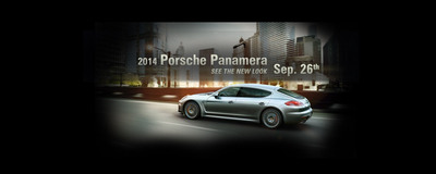 2014 Porsche Panamera Launch Just Days Away!.  (PRNewsFoto/Loeber Motors)