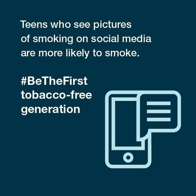 Teens who see pictures of smoking on social media are more likely to smoke.