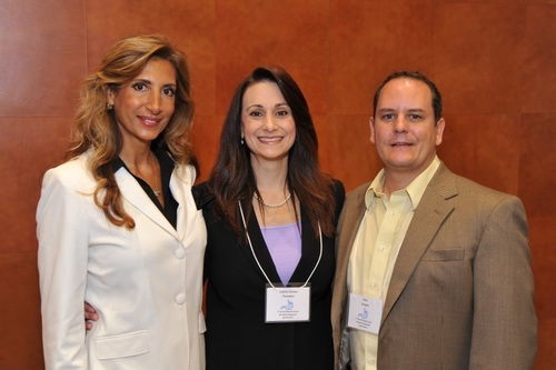 DDF Symposium Co-Chair Libia Scheller, PhD; DDF President & Founder, Debbie Zelman Esquire; and Co-Chair Peter Sprague, PT, DPT, OCS  (PRNewsFoto/Debbie's Dream Foundation)