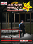 Handi-Hut Announces the introduction of a new low cost Solar Powered Outdoor Shelter Light Kit only $495 (PRNewsFoto/Handi-Hut)
