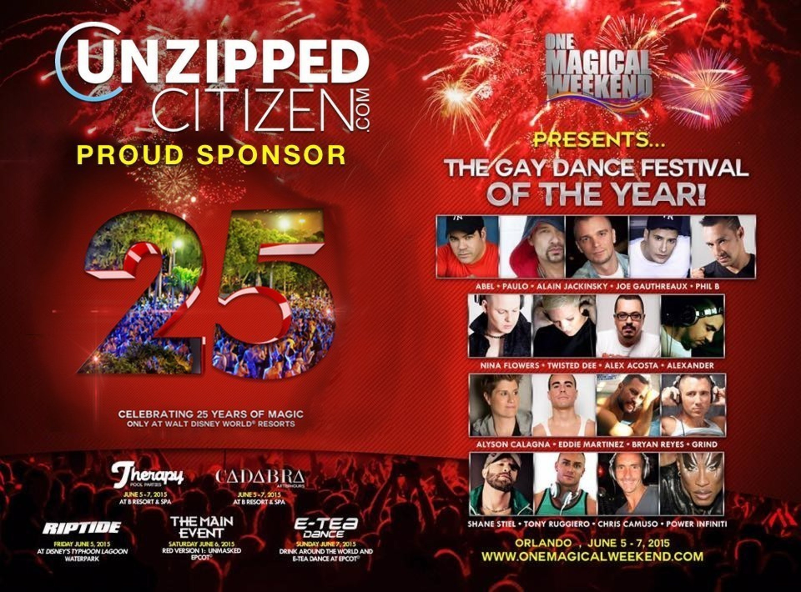 Unzipped Citizen Personifies Brand And Sponsors 'One Magical Weekend' in Orlando, Florida