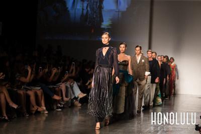 Live Aloha Runway Show at HONOLULU Fashion Week. Credit Karen DB Photography