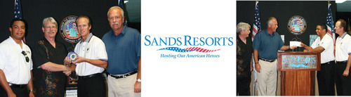 Myrtle Beach's Sands Resorts Receives Special Recognition in the Hall of Heroes