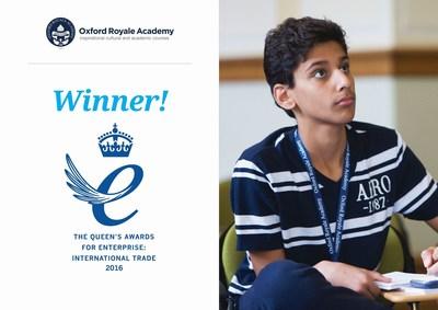 La Oxford Royale Academy recibe el premio más alto de los negocios británicos