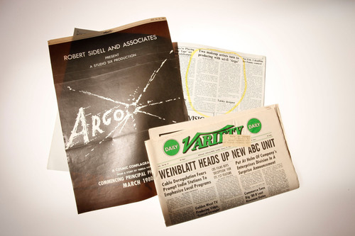 "Ads and articles were placed in Variety.  The ads proclaimed Argo to be a ""cosmic conflagration"" written by Teresa Harris.  (PRNewsFoto/Spy: The Secret World of Espionage)"