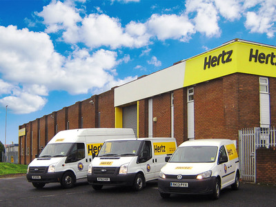 Hertz has opened a 84,500 square foot Van Supersite facility in Newcastle. The new location will serve businesses in the north east of England offering Luton box vehicles, tippers, crew cabs and customised vehicles. (PRNewsFoto/The Hertz Corporation) (PRNewsFoto/THE HERTZ CORPORATION)