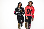 "Quavo and Takeoff, of hip-hop group Migos, showing off their limited edition ""Worldwide Rich"" capsule collection. The collection is in partnership with WorldStarHipHop and Migos' fashion label, Yung Rich Nation.  From left, Quavo is wearing the Worldwide Rich hoodie and joggers, and Takeoff is wearing the Worldwide Rich long sleeve tee and joggers. The collection is available exclusively at select Footaction stores nationwide and www.footaction.com."
