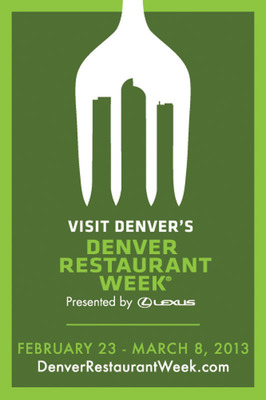 Denver Restaurant Week kicks off as the nation's largest restaurant week on Feb. 23. www.DenverRestaurantWeek.com.  (PRNewsFoto/VISIT DENVER, The Convention & Visitors Bureau)