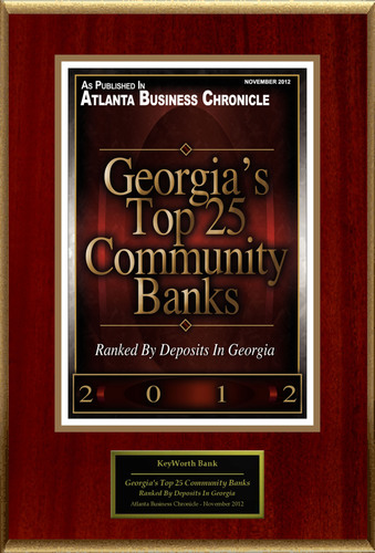 "KeyWorth Bank Selected For ""Georgia's Top 25 Community Banks.""  (PRNewsFoto/KeyWorth Bank)"