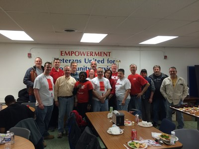 Ace Hardware, Valspar Corporation, and Wooster Brush Volunteers Paint VETS Place Central on February 25, 2016.