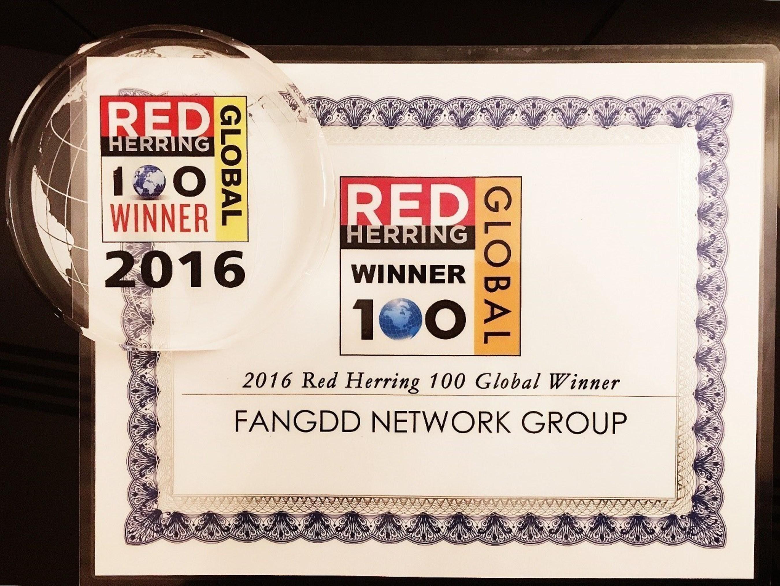 FangDuoDuo Wins 2016 Red Herring Global Top 100 Award