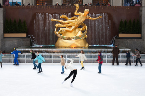 Opened in 1936, The Rink at Rockefeller Center includes rink-side dining, a heated skate house, first skate at ...
