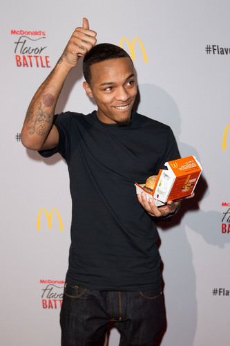 Hip-hop artist/actor/television host Bow Wow attended the McDonald's Flavor Battle launch party in Times Square. McDonald's Flavor Battle is a national online DJ competition that showcases some of America's hottest up-and-coming mix-masters and beatsmiths. Photo Credit: Dario Cantatore.  (PRNewsFoto/McDonald's USA, LLC, Dario Cantatore)