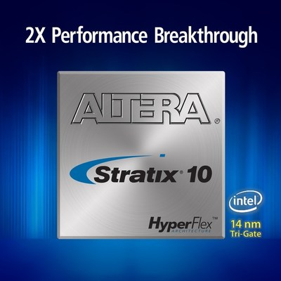 Stratix 10 design software with innovative fast forward compilation allows customers to achieve 2X breakthrough performance. (PRNewsFoto/Altera Corporation)