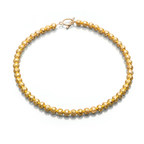 Artistic Falls Gold Tone Bead Necklace