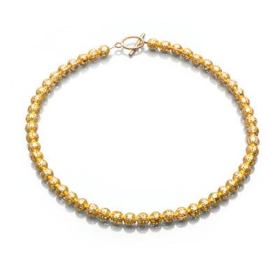 Artistic Falls Gold Tone Bead Necklace