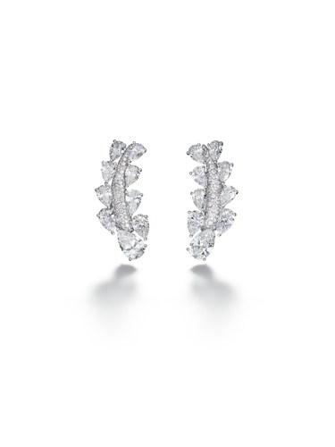 High Jewellery earrings - Folies Collection, Biennale des Antiquaires Paris (PRNewsFoto/de Grisogono)