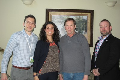 Landmark staff with Duane Grimmer, Landmark's 5,000th enrolled patient