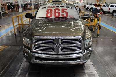 2015 Ram Heavy Duty begins production with best-in-class 865 lb.-ft. of torque and best-in-class towing of 30,000 lbs. (PRNewsFoto/Chrysler Group LLC)