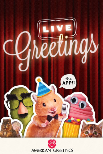 Download the LIVE Greetings App from American Greetings! (PRNewsFoto/American Greetings Corporation) (PRNewsFoto/AMERICAN GREETINGS CORPORATION)