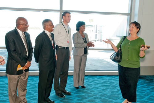 Arriving JetBlue travelers found an entirely new International Arrivals Terminal, unveiled on October 16, 2012 ...