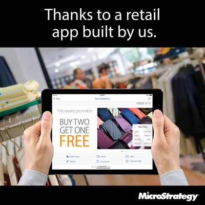 Store managers can spend almost 20% more time with customers. (PRNewsFoto/MicroStrategy)